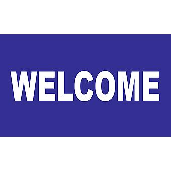 5ft x 3ft Flag - Welcome