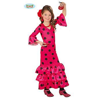 Jonge geitjes flamenco kostuum Spaanse flamenco-danseres kostuum