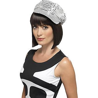 Pălărie disco anii ' 80 disco pălărie pălărie de argint sclipici