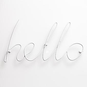 Block Design Hello Coat Rack - White