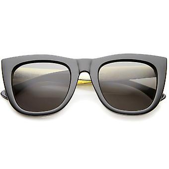 High Fashion alligaattori levy-yhtiö rohkea reunustetut Flat Top aurinkolasit