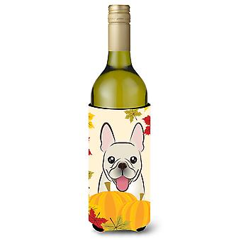French Bulldog Thanksgiving Wine Bottle beverage Insulator Hugger