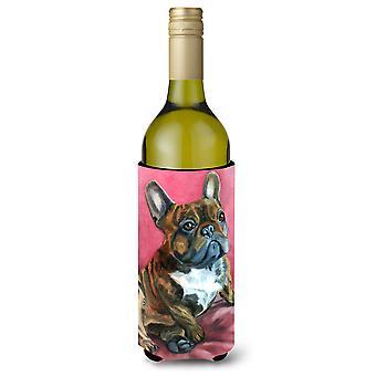 Ranskanbulldoggi käpertyä Viini pullo eriste Hugger