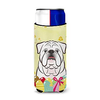 Bebida branco Bulldog Inglês Easter Egg Hunt Michelob Ultra isolador para sli