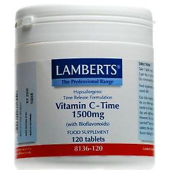 Lamberts Vitamin C Time Release with Bioflavonoids 1500mg, 120 tablets