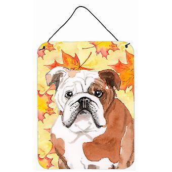 Engels Bulldog val muur of deur hangen Prints