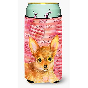 Toy Terrier Love Tall Boy Beverage Insulator Hugger