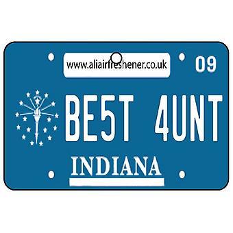 Indiana - beste tante License Plate auto luchtverfrisser