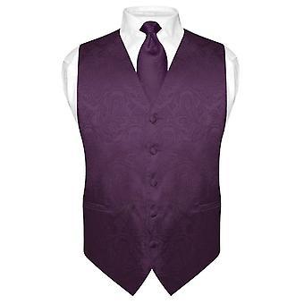 Мужской жилет платье Пейсли дизайн & галстук шею галстук набор