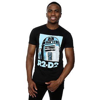 Star R2-D2 Poster t-shirt Wars maschile