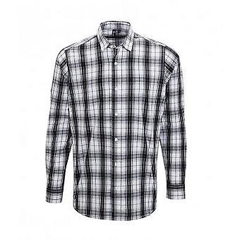 Premier Mens Ginmill Check Long Sleeve Shirt
