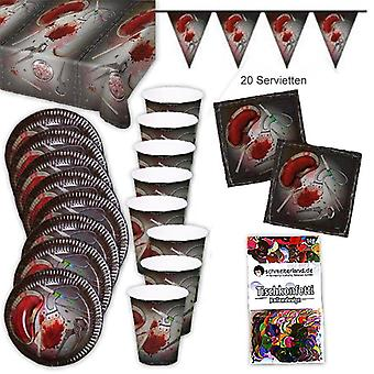 Definir o maldito partido caixa festa pacote 39-teilig decoração de Halloween