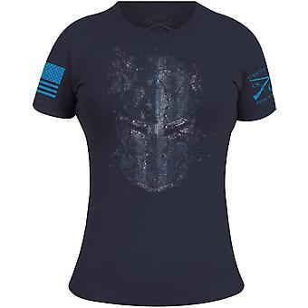 Grunt Style Women's Blueline Crusader Crewneck T-Shirt - Navy