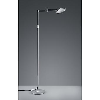 Trio Lighting Calcio Modern Nickel Matt Metal Floor Lamp