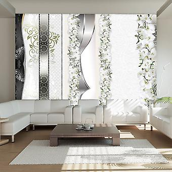 Wallpaper - Parade of orchids in shades of gray