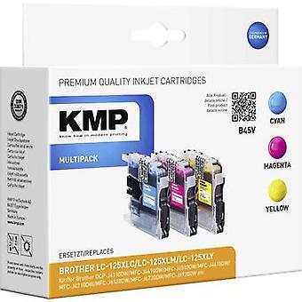 KMP blæk erstattet Brother LC-125 kompatible sæt Cyan, Magenta, gul B45V 1526,0050