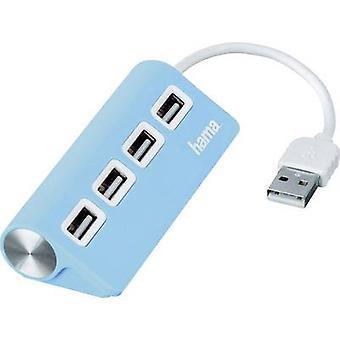 حماة 4 منافذ USB 2.0 لوحة الوصل الأزرق