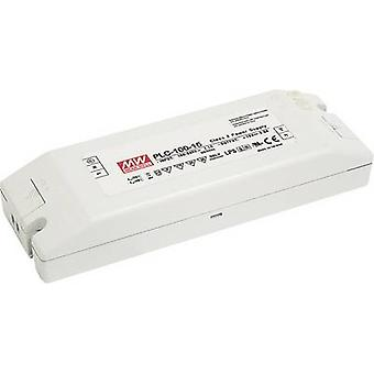Mean Well PLC-100-24 LED driver, LED transformer Constant voltage, Constant current 96 W 0 - 4 A 24 V DC not dimmable, PFC circuit, Surge protection, Approved