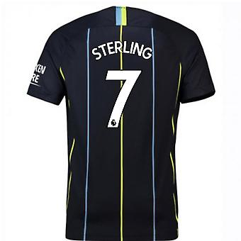 2018-2019 mand City lager Nike fodbold Shirt (Sterling 7)