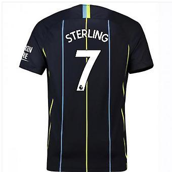 2018-2019 Mann Stadt Away Nike Fußballtrikot (Sterling 7)