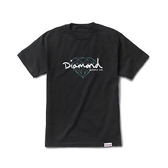 Diamond Supply Co Brilliant Script T-shirt Black