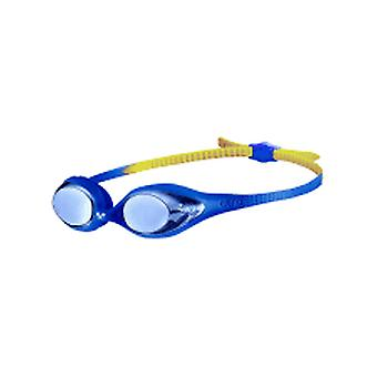 Arena Spider Junior Mirror Swimming Goggles-Blue/Yellow