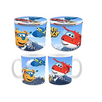 Super Wings Cup and Coin gift set
