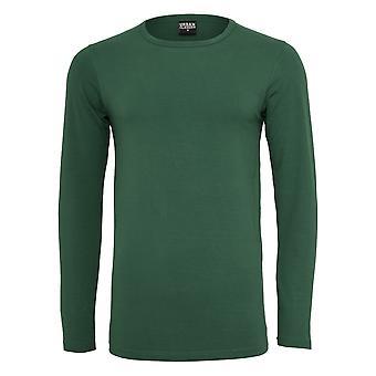 Urban classics Långärmad herrskjorta utrustade sträcka L / S