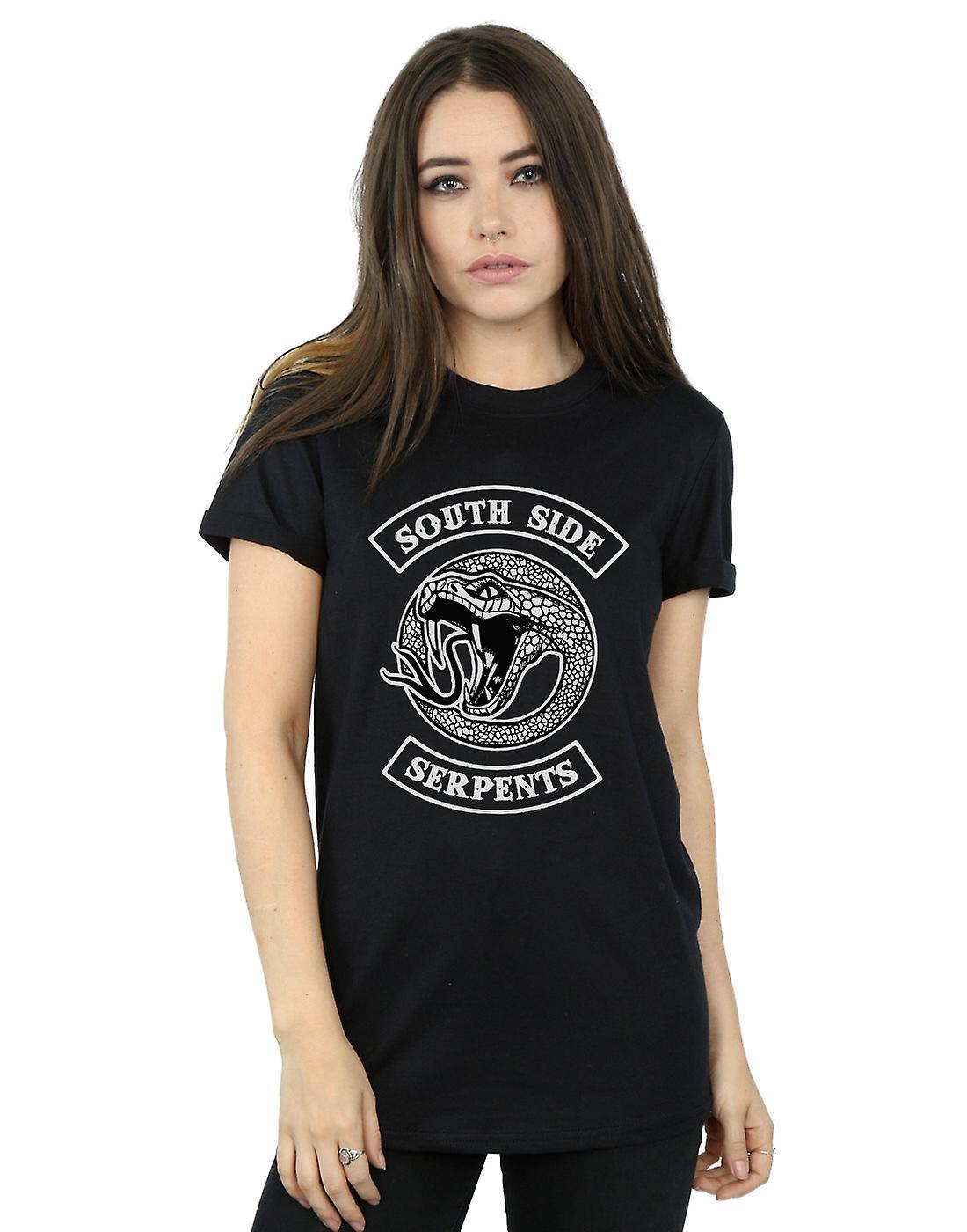 Riverdale Women's Southside Serpents Monotone Boyfriend Fit T-Shirt