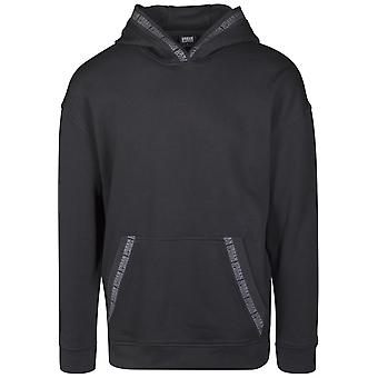 Urban classics men's Hooded sweater, oversize logo