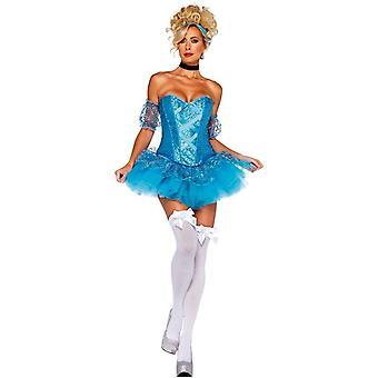 Mini Cinderella mekko aikuinen - seksikäs sininen Halloween puku