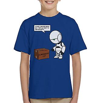 Hitchhikers Guide To The Galaxy Marvin Schrodingers Cat Kid's T-Shirt