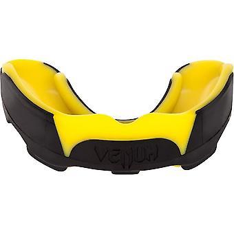 Predador de VM MMA boxe esportes protetor bucal adulto com Case - preto/amarelo