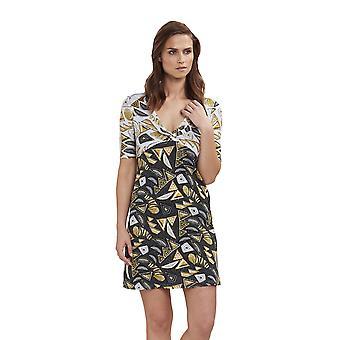 Féraud 3195094-10996 Women's Voyage Black Print Beach Dress