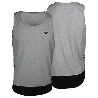 RVCA Mens VA Sport Porters Tank Top - Gray/Black