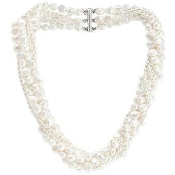 Pearls of the Orient 6 Strand Mixed Freshwater Pearl Necklace - White