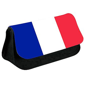 France Flag Printed Design Pencil Case for Stationary/Cosmetic - 0061 (Black) by i-Tronixs