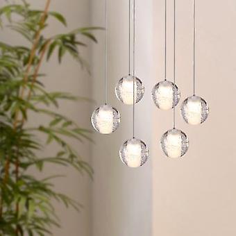 Modern Nickel hänge ljus tak lampa matsalen belysning 6 hänge Oval Canopy