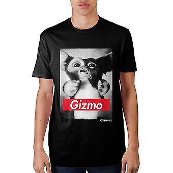 Men's Gremlins Black Gizmo Design T-Shirt