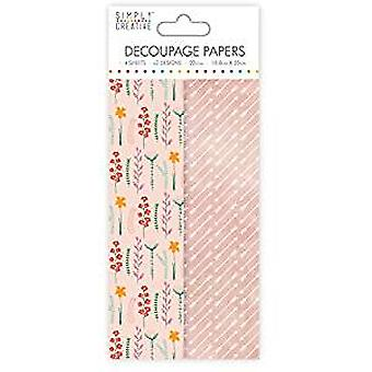 Simply Creative FSC Decoupage Papers Wild Flowers (SCDEC108)