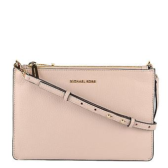 MICHAEL by Michael Kors Soft Pink And Fawn Leather Large Clutch Crossbody