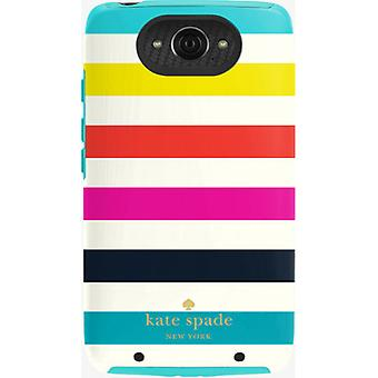 Kate Spade Dual Layer Case for Motorola Droid Turbo (Candy Stripe)