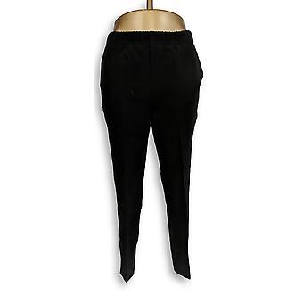 Dennis Basso kvinner ' s bukser teksturert trekk på beskjære svart A289808