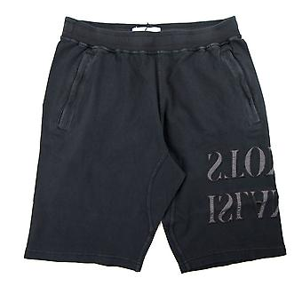 Stone Island große Logo Kleidungsstück gefärbt Shorts schwarz V0129
