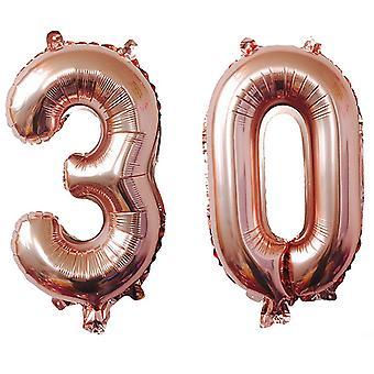 TRIXES numero 30 Palloncino foil per compleanni Anniversari 40 Inch Rose Gold