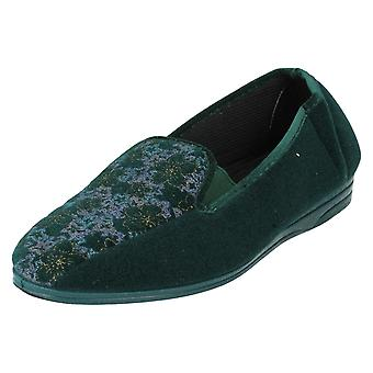 Ladies Ladylove Floral Slippers Style - Rachael 2