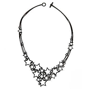 Batucada Skin Jewellery Black Stars Necklace 10-01-01-03-BLACK