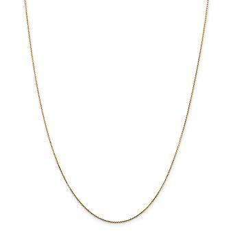 14k goud .8mm sparkle gesneden ronde open link kabelketting enkelband 10 inch sieraden geschenken voor vrouwen