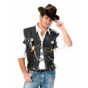 Cowboy Weste Herrenkostüm Biker Rancher Wild West Herren Kostüm