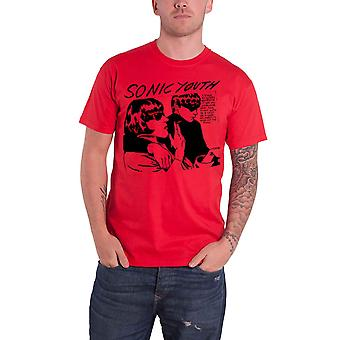 Sonic Youth T Shirt Goo Album Cover Band Logo new Official Mens Red